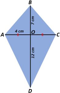 Diagonal Layang Layang : diagonal, layang, Mencari, Layang-Layang, (Area, Kite), Mamatematika