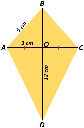 Diagonal Layang Layang : diagonal, layang, Mencari, Layang-Layang, (Area, Kite), Diketahui, Panjang, Diagonal, Salah, Sisinya, Mamatematika