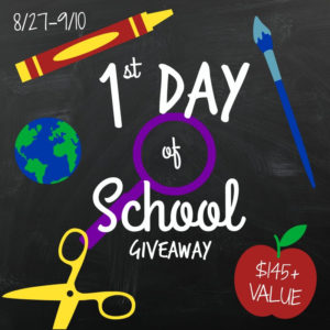1st Day of School Giveaway
