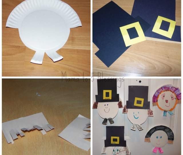 Paper Plate Pilgrim Craft Learn Link With Linky Mama To