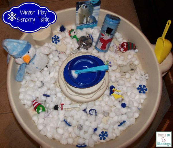 Preschool Winter Sensory Table Ideas
