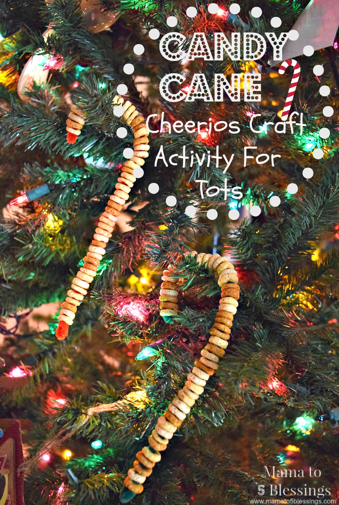 Candy Cane Cheerios Craft Activity For Toddlers