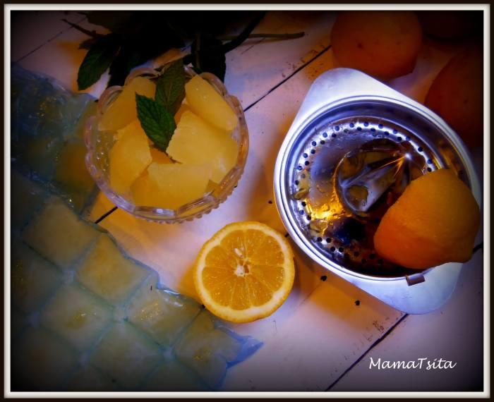 παγάκια από λεμόνι