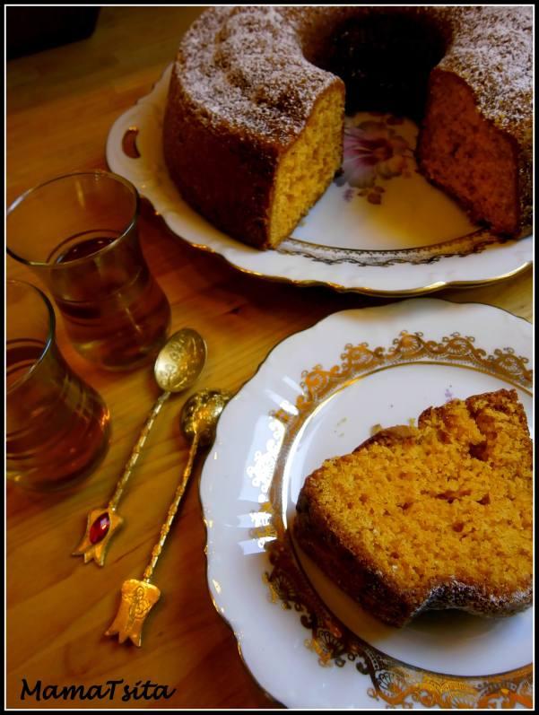 κέικ ταχίνι πορτοκάλι