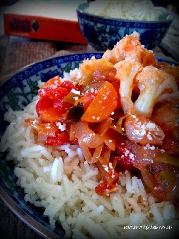 λαχανικά τουρλού με Basmati