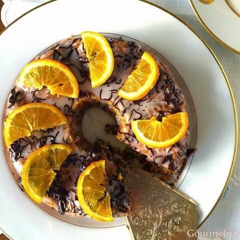 κέικ πορτοκάλι σοκολάτα