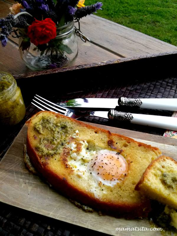 αυγό σε ψωμί
