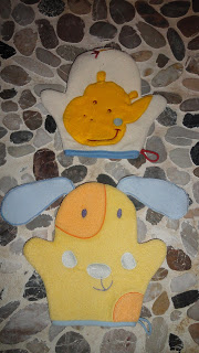 Gants de toilette marionnettes BABYCALIN