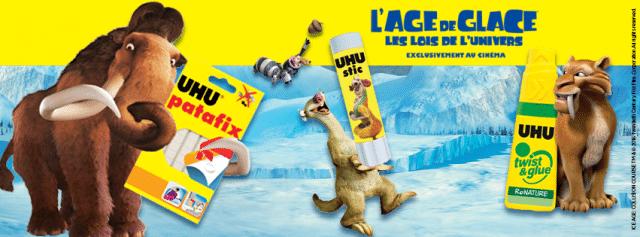 Gagnez 5 produits UHU x L'AGE DE GLACE