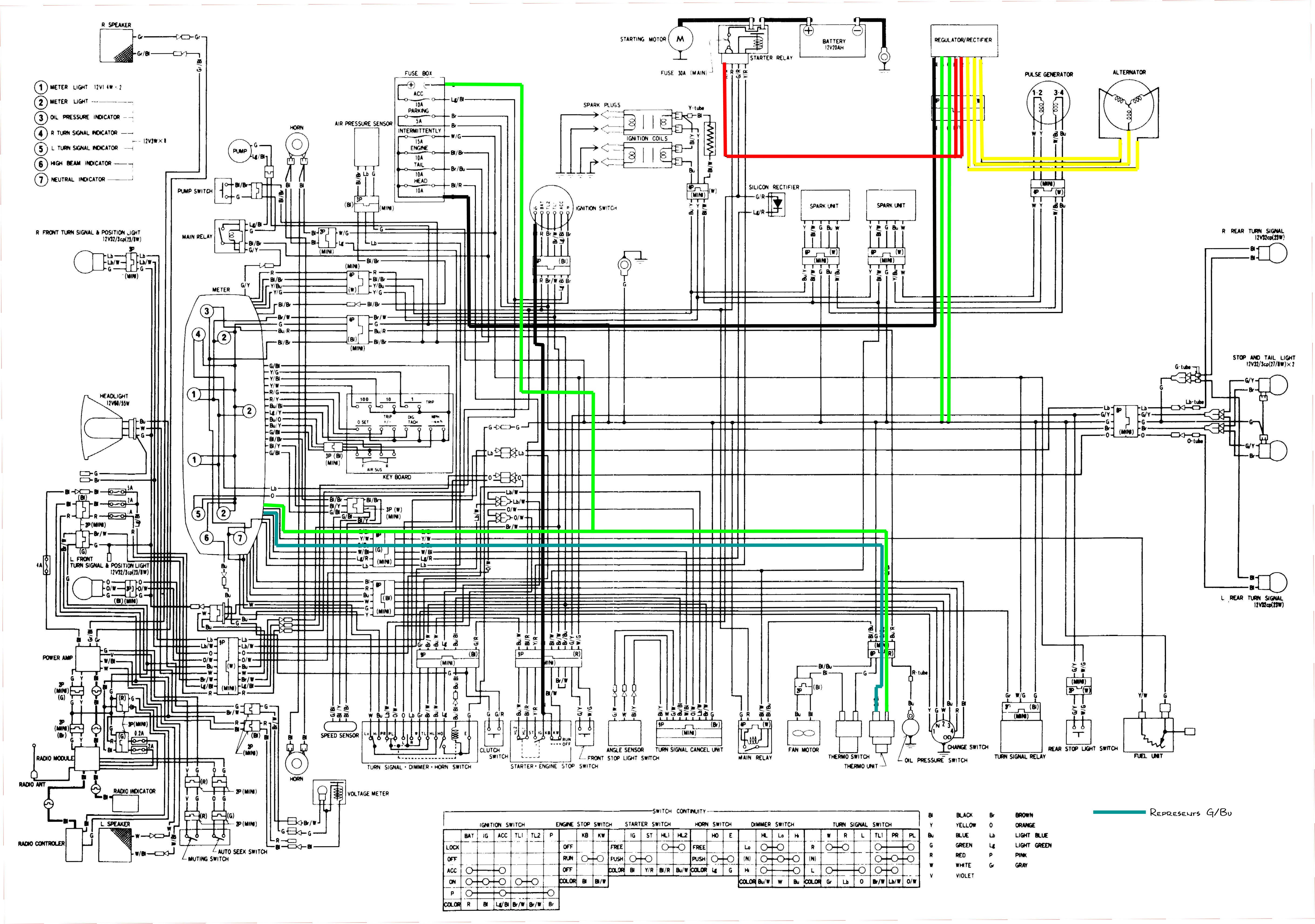 1984 honda goldwing wiring diagram lights