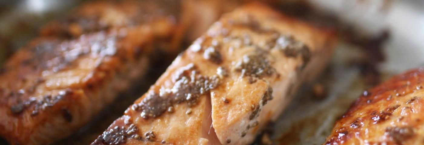 baked chia salmon