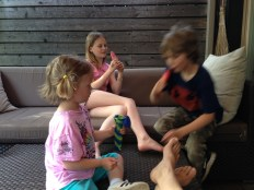 I've always loved the way the kids gather and chatter away while we eat popsicles out back – the best part.