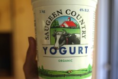 Don't be discouraged by the 4% fat content. This yogurt is really light in taste and texture.