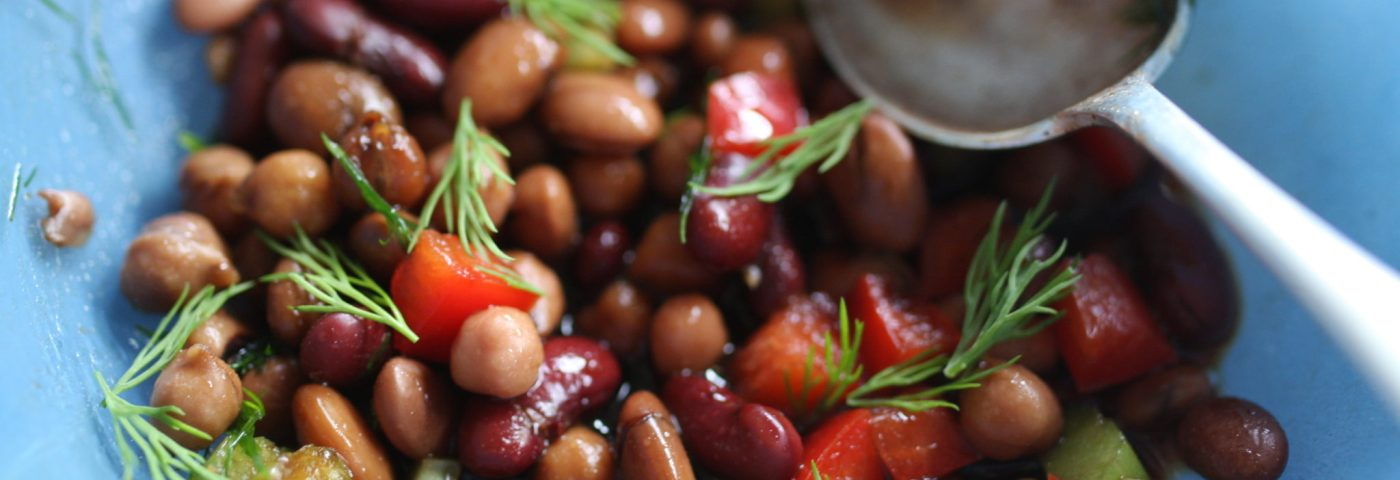 quick school lunch bean salad