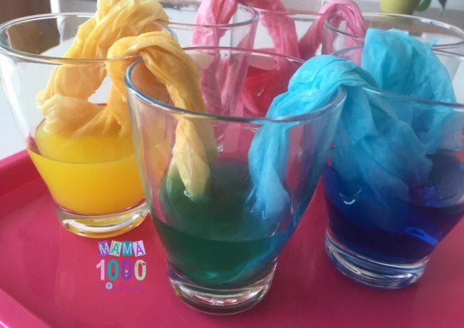 Experimentos casero de mezcla de colores