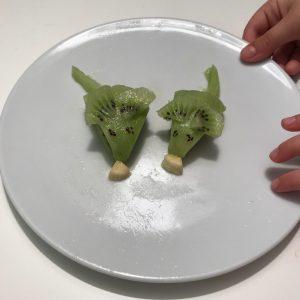 fRUTA con formas, ratoncitos de kiwi