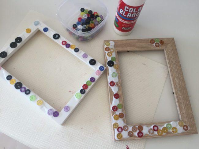 marcos de fotos con botones