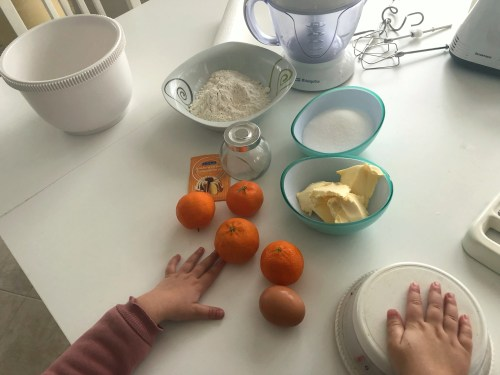 ingredientes para hacer galletas de mandarina