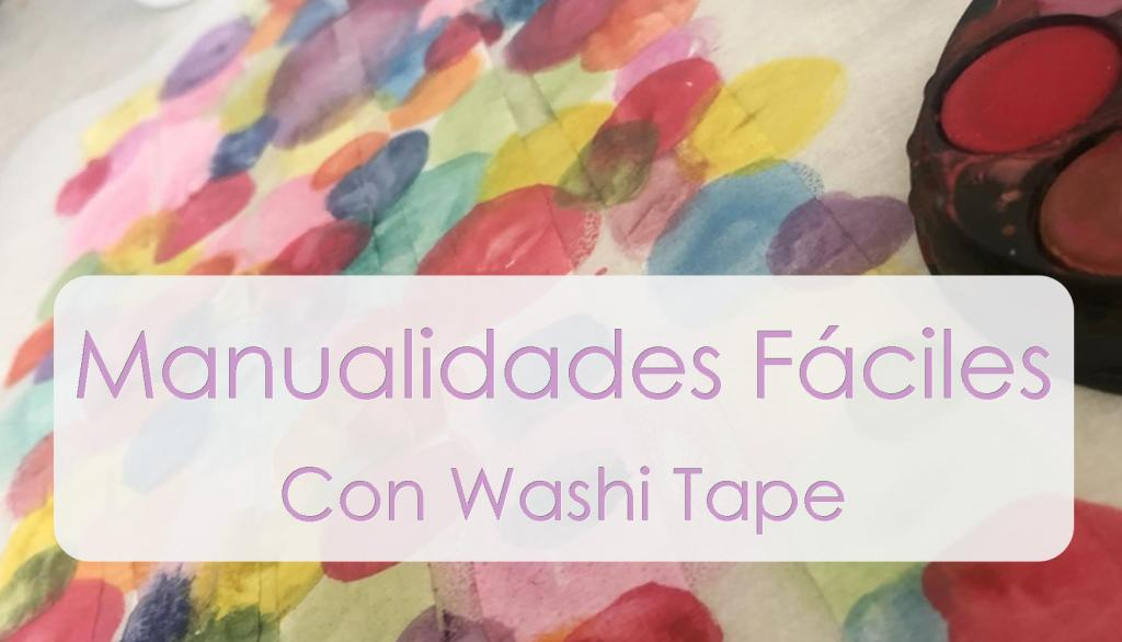 ideas faciles con washitape para niños