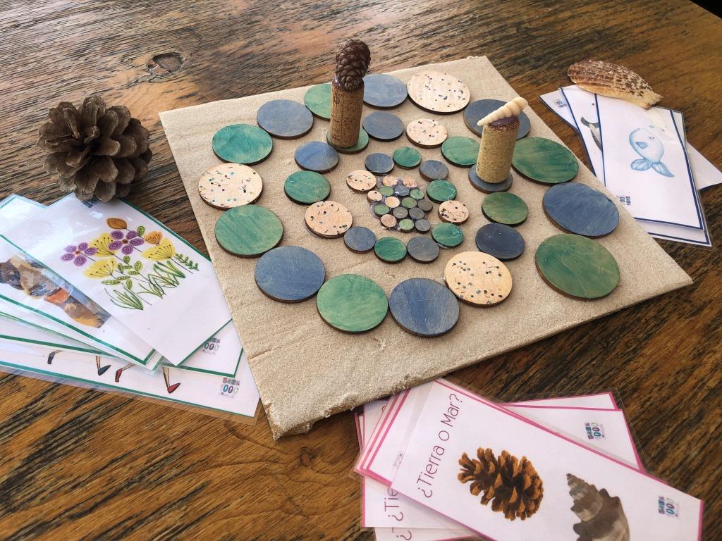 juego de mesa sobre elementos naturales