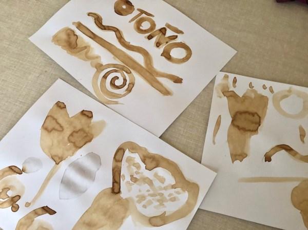 pintar con cafe soluble pinturas rupestres