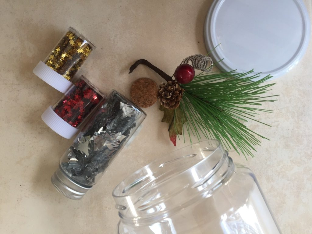 botella de la calma navidad