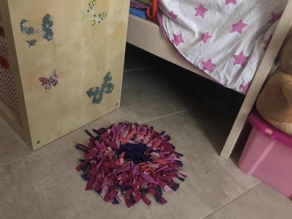 alfombra diy con telas viejas