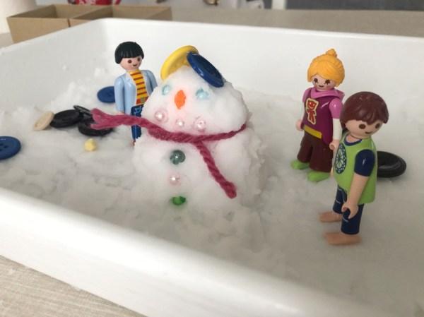nieve casera para hacer muñecos de nieve