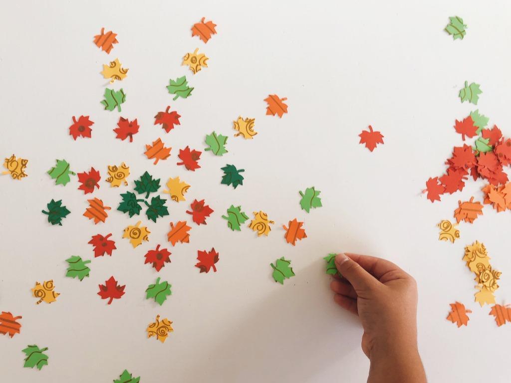 mandalas de papel troquelado otoño