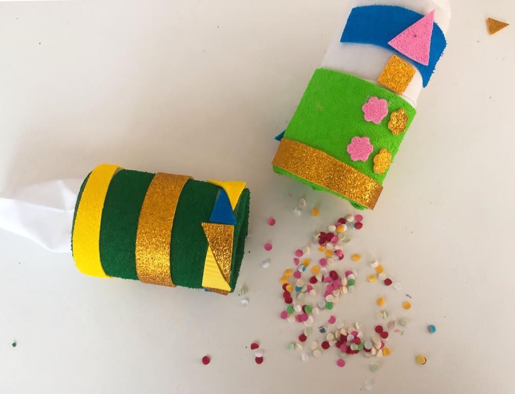 como hacer un lanza confeti casero