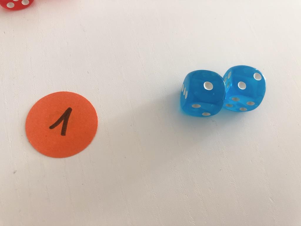 primeras operaciones matematicas con dados