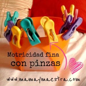 Montessori: motricidad fina con pinzas para la ropa