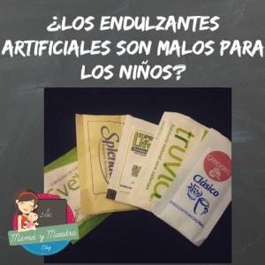 ¿Los endulzantes artificiales son malos para niños?