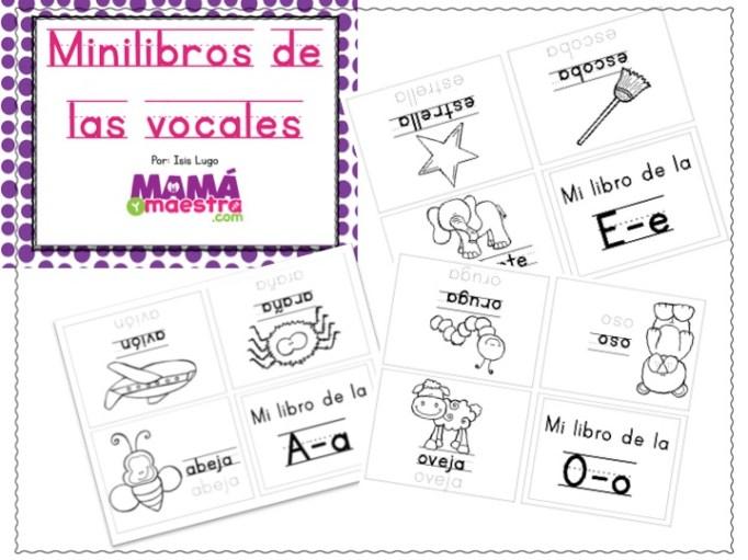 Mini-libros para aprender las vocales   Descarga e imprime GRATIS ...