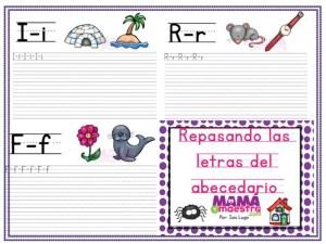 Trazando las letras del abecedario | Imprimible gratis