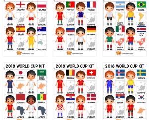 Actividades imprimibles de fútbol (Mundial)