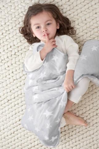 Cozy muslin stroller blanket silver star via aden + anais