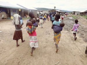 When we arrive in any village for outreach we either ask someone to go mobilise the women to come to clinic (tell the women there is a clinic being held) or we walk through the town ourselves. We usually draw a bit of a crowd, especially with the children