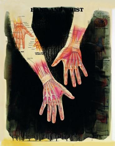 "Palimpsest series: ""Hand & Wrist"", 1992 © Joan Fontcuberta"