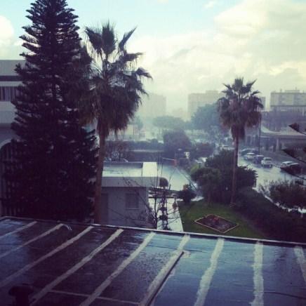 Heavy but invisible rain