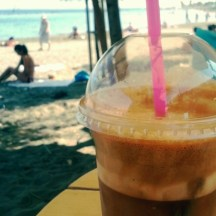 Frappe at the beach