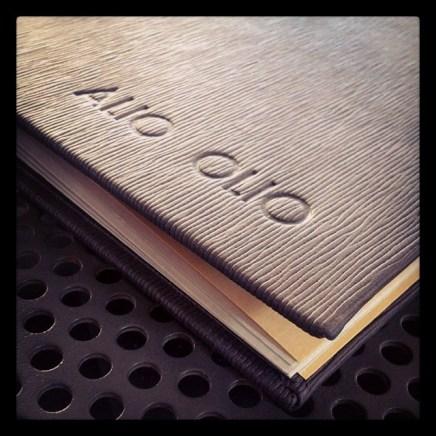 Alio Olio menu