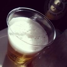 Beer 10km above ground. Thank you #Lufthansa