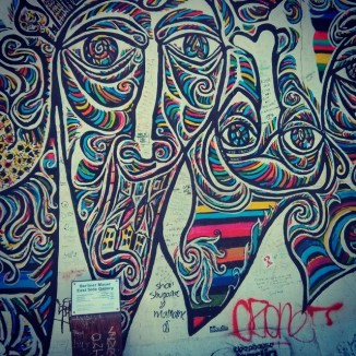#Berlin wall art