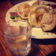 Vodka and pelmeni