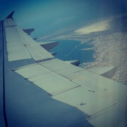 Flying over Limassol