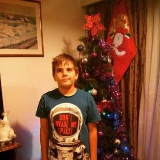 A 9+ year old boy found. Still grows.