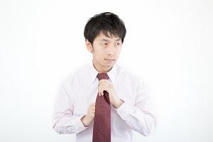 ネクタイをする人