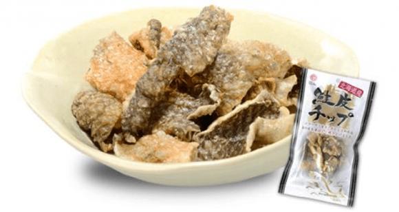 鮭皮チップス