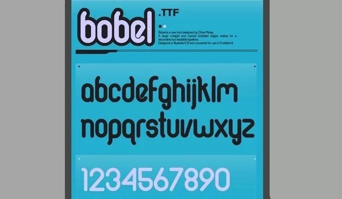 Bobel font - Free modern fonts